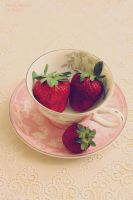 strawberry  tea by SelenaAdorian
