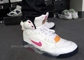 Nike Air Force 180 Pump 'Sunrise' 1 by BBoyKai91