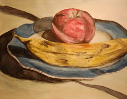 Watercolor Fruit Still life by TheMinx