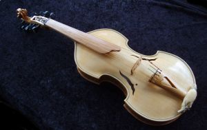 Viola d'amore just finished. by deviantviolins