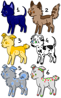 Adoptables Batch 6 [CLOSED] by OkamiWhitewings