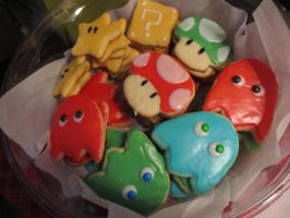 Nintendo Sugar Cookies by Leara