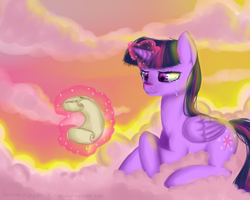 Twilight in the sky :3 by JunoMaussi