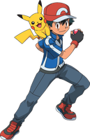 Ash and Pikachu in Pokemon by Tlsonic214