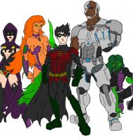 The Titans Colored by Axel-Knight