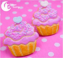 Cupcake cookie Brooch 3 by CuteMoonbunny