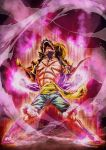 Monkey D Luffy on fire by marvelmania