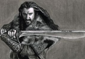Thorin Oakenshield - The Hobbit by brucebryanco