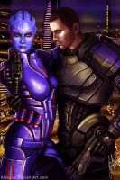 Captain Wasea and Commander Shepard by AHague