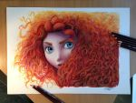 Merida color Pencil Drawing by AtomiccircuS