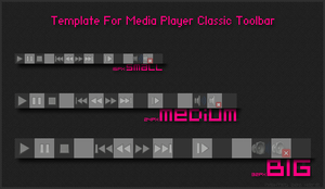Toolbar Template for MPC-HC by Nighted