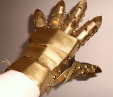 Brass Gauntlet by RawrDinosawrWS
