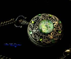 Betwixt Peridot Opal Pocket Watch - Dream Drop by LadyPirotessa
