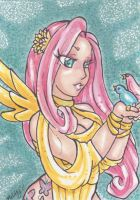 ACEO Fluttershy by nickyflamingo