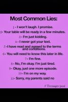 The most common lies by cosenza987