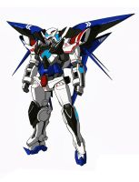 Gundam Exia Dark Matter (Freedom Color Scheme) by CLeRu087
