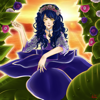 Adeliza, Queen of the Morning Glory by Hiita--chan