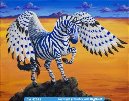 Black Rock Blue Zebra by TabLynn