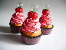Strawberry Faux Cupcake - 01 by CreativeAbubot