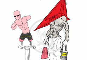 Pyramid Head at the mall by macawnivore