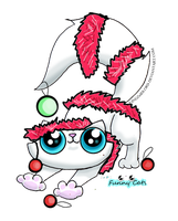 Funny cat adoptable ruined xmas decorations by KingZoidLord