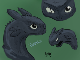 Toothless Sketches by DragonzFire95
