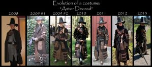 Evolution of a costume: Astor Deorad by Hellwolve