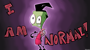 I AM NORMAL wallpaper by wheresElm00