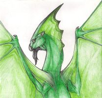 Green Dragon by Zilla-Hearted