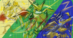 Shoutmon DX - dA muro Doodle by cutejana17