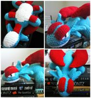 Crochet Salamence Collage by ArtisansShadow