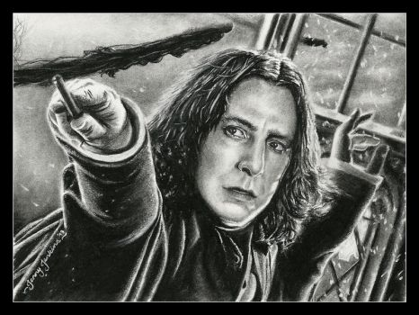 Severus Snape by thewholehorizon