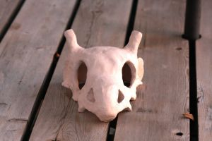 Cubone ceramics project FRONT by Sanngot