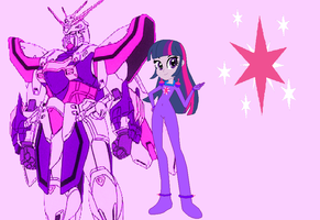 Burning Gundam Twilight Sparkle by AllenRavenix