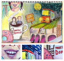 Mister Donut Sketchbook Entry by foxibiri