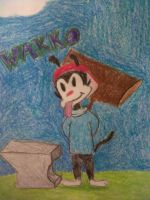 Wakko with mallet and anvil by niki1313
