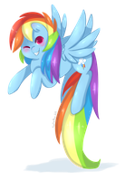 Rainbow Dash by Xeella