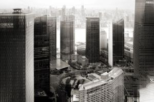 Financial towers in Pudong - Shanghai by Marcusion