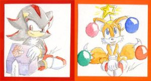 Sega Christmas Cards by o0NeonCola0o