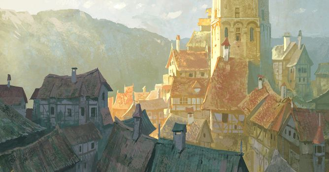 fabulous town by Andrei-Pervukhin