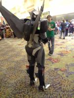 Starscream cosplay back view by pennyfarthing1893