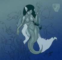 Mermaid at the Reef Color WiP by ridia