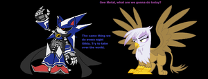 Metal Sonic and Gilda by VGFanatic23