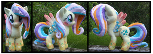 SOLD: Rainbow Power Fluttershy Plush by Nazegoreng