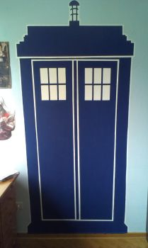 Tardis on the wall by LauraTheStrange97