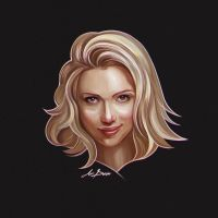 Scarlett Johansson portrait by snikers15