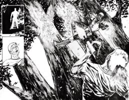 More outcast pages - jungle scene by mikemorrocco