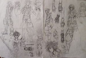 KH3 Fan-made Sora Concept Art (Pages 5 and 6) by d-AspiringAmeture-b
