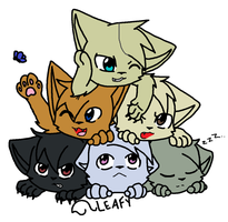 DogPi-I mean Cat Pile! by littleshadow3