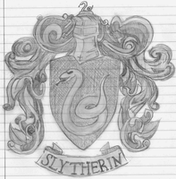 Slytherin Crest by spaghettiblue